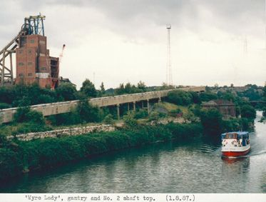 Wyre Lady sailing past Cadeby Quarry 1980's